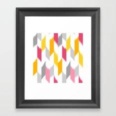 Ikat Stripes Framed Art Print