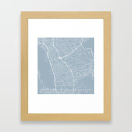 Chula Vista Map, USA - Slate Framed Art Print
