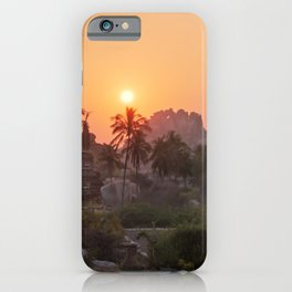 Sunrise at Hampi, India iPhone Case