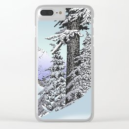 Snowed in the Douglas Fir Clear iPhone Case