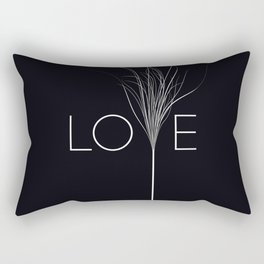 Love Black Rectangular Pillow