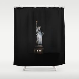 Statue of Liberty at Night Shower Curtain
