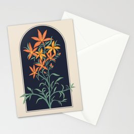 Orange Lily Illustration Stationery Cards