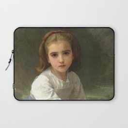 """William-Adolphe Bouguereau """"Girl with Pitcher"""" Laptop Sleeve"""