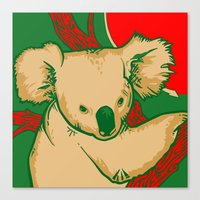 koala Canvas Prints featuring Koala by whiterabbitart