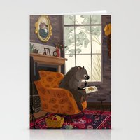 beaver Stationery Cards featuring Little beaver by olgademidova