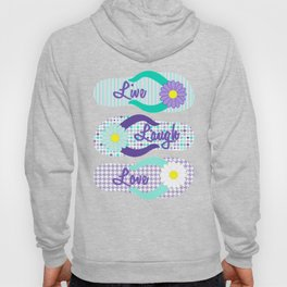 Live - Laugh - Love in Turquoise & Purple Hoody