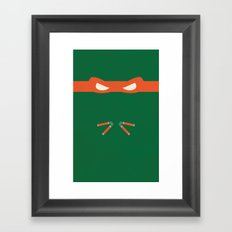 Orange Ninja Turtles Michelangelo Framed Art Print