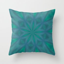 Aurora In Jade and Blue Throw Pillow