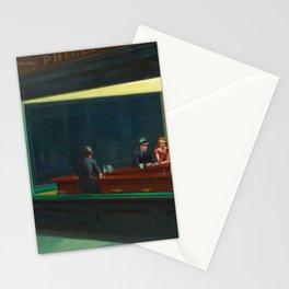 Edward Hopper Nighthawks painting restored Stationery Cards