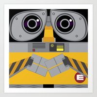 wall e Art Prints featuring Wall-E by Sam Del Valle