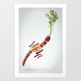 Flying Carrot Art Print