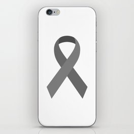 Gray Awareness Support Ribbon iPhone Skin