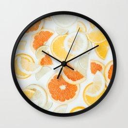 citrus fresh orange twist Wall Clock