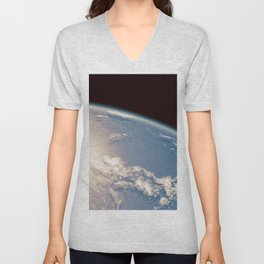 Earth and Moon Unisex V-Neck