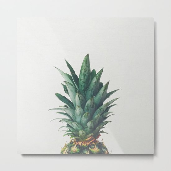 Pineapple Top Metal Print