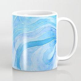 Watercolor blue waves Coffee Mug