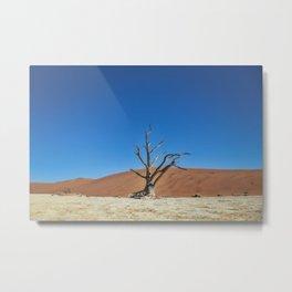 Lone Dead desert Tree Metal Print