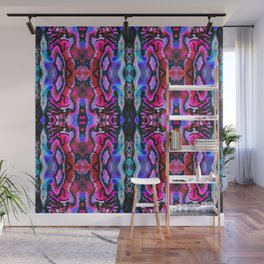 Abalone Symmetry in Pink Wall Mural
