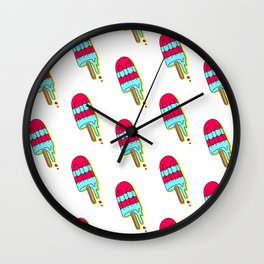Melting Popsicles Wall Clock