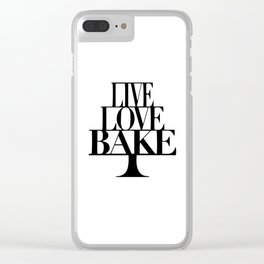 Live love bake Clear iPhone Case