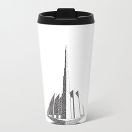 City Block Perspective Stipple Travel Mug