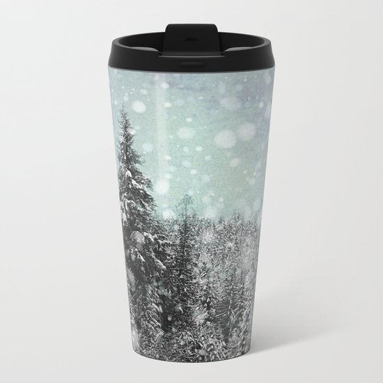 Snow Metal Travel Mug