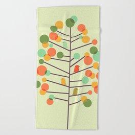 Happy Tree - Tweet Tweet Beach Towel