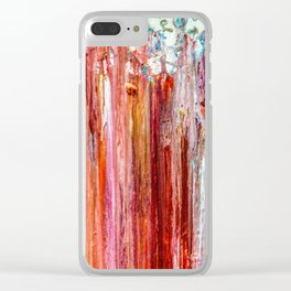 Abstract pour and trickle Clear iPhone Case