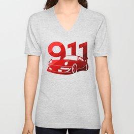 Porsche 911 - classic red - Unisex V-Neck