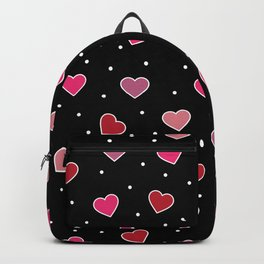 Pink Heart Stickers Backpack