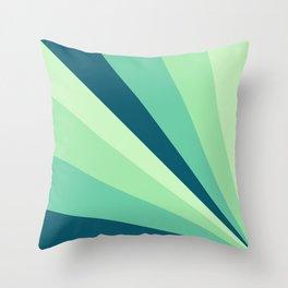 Green Emerging Rays Throw Pillow