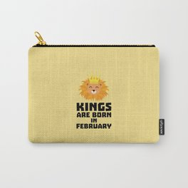 Kings are born in FEBRUARY T-Shirt D9z5c Carry-All Pouch