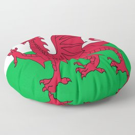 Flag of Wales,uk,great britain,dragon,cymru, welsh,celtic,cymry,cardiff,new port Floor Pillow