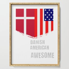 50% Danish 50% American 100% Awesome Serving Tray