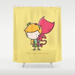 Devil Shower Curtain