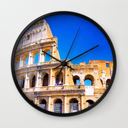Colosseum in Italy Wall Clock