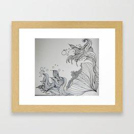 Illustrated Flower Framed Art Print