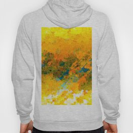 Morning Sun Glow Circle Pattern Abstract Hoody