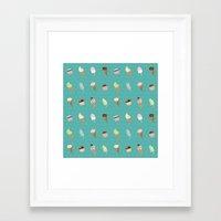 dessert Framed Art Prints featuring Dessert by Olya Yang