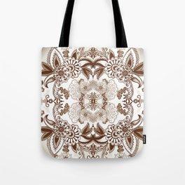 Paisley In Brown Tote Bag