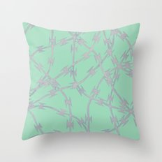Trapped Mint Throw Pillow