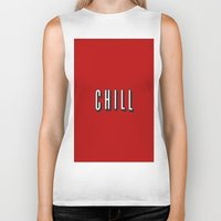 chill Biker Tanks featuring CHILL by I Love Decor