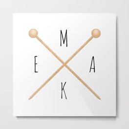 MAKE  |  Knitting Needles Metal Print