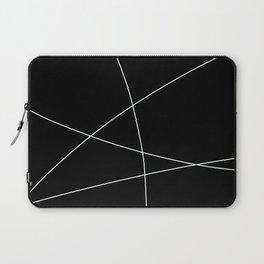 Black and White Minimalist Lines Laptop Sleeve