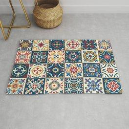 Moroccan Tiles Pattern Multicolor Rug