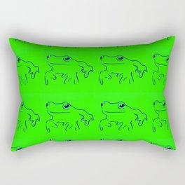 Green Frogs Rectangular Pillow