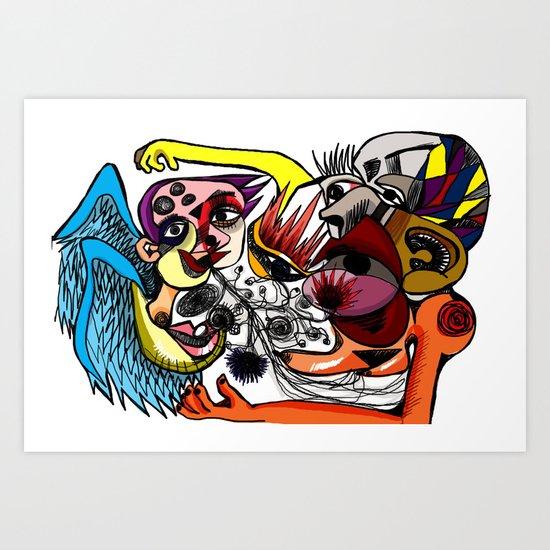 huh Art Print