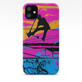 Lets Fly!  - Stunt Scooter iPhone Case