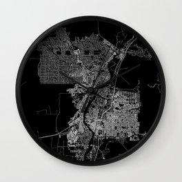 Albuquerque map New Mexico Wall Clock